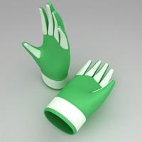 3dsmax garden gloves pair