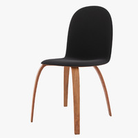 3d model chair plywood fabric