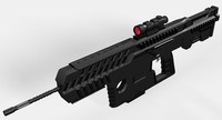 3d conceptual assault rifle