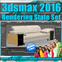 3ds max 2016 Rendering State Set 3 Mesi Subscription