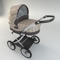 baby pram modelled 3d model