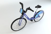 city bike new 3d model
