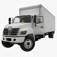 3d model box truck rigged