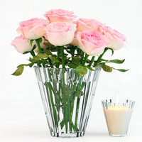 3d pink roses model