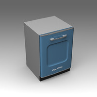 big chill dishwasher 3d fbx