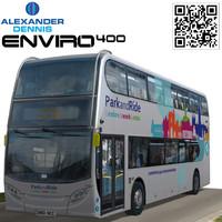 alexander dennis enviro 400 3d model