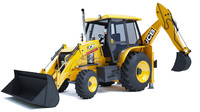 3d backhoe loader