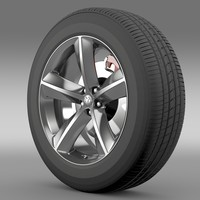 3d dodge challenger srt8 wheel