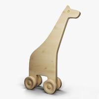 wood giraffe 3d 3ds
