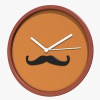 wall clock 3d model