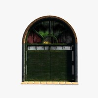 old wood window 3d model