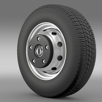 3d model dongfeng captain wheel