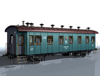 3d 2-axle passenger car