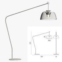 3d model calligaris arpege floor lamp