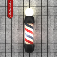 Barber Pole Lamp V1