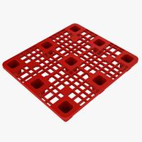 3d plastic pallet model