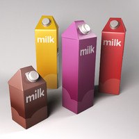 milk pack 3d obj