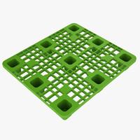 3d model plastic pallet