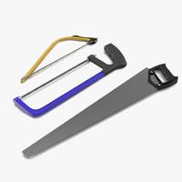 3d model saws set hand