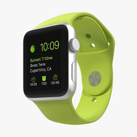 3d max apple watch sport green