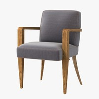 jacques quinet dining armchair 3d model