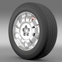 3d model fiat doblo work wheel