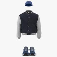 3dsmax baseball style clothing