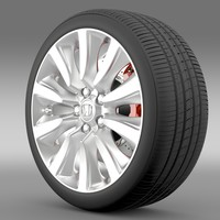 honda legend hybrid wheel 3d 3ds