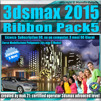 3ds max 2015 Modeling Ribbon 5 Volumi_ 3 Mesi Subscription