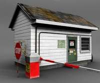 3d guard house model