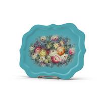 3d plates flowers blue