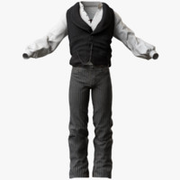 mens western clothes 3d model