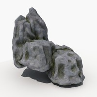3ds max rock 04