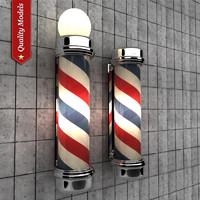 3d model barber pole
