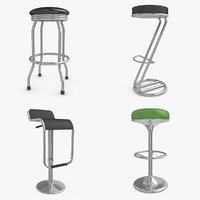 3d max bar stool set 2