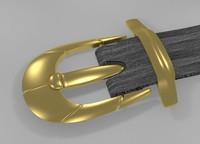 metal buckle 3ds