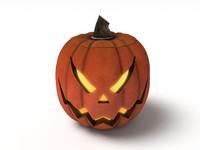 3dsmax halloween pumpkin jack evil