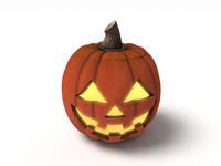 halloween pumpkin jack happy 3d max