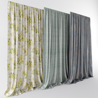 3d ethnic interiors curtains