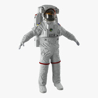 nasa space suit extravehicular 3d max