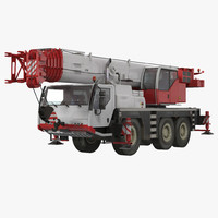 compact mobile crane 3d model