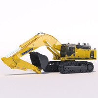 3d model mining excavator komatsu pc800