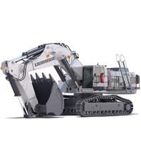 maya mining excavator liebherr r9150
