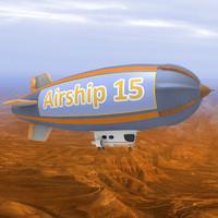 3d model dirigible airship