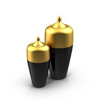 3d 3ds vases black gold