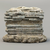 3ds max stone rock