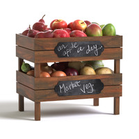 crates fruit vegetables max