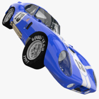 3d shelby cobra daytona coupe model