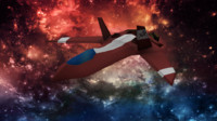 space ship mk-10c 3d 3ds
