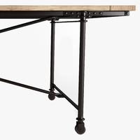 metal flatiron rectangular dining table 3d max